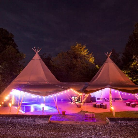 cotswold birthday party bar tent tipis
