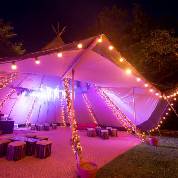 cotswold birthday party bar tent tipi