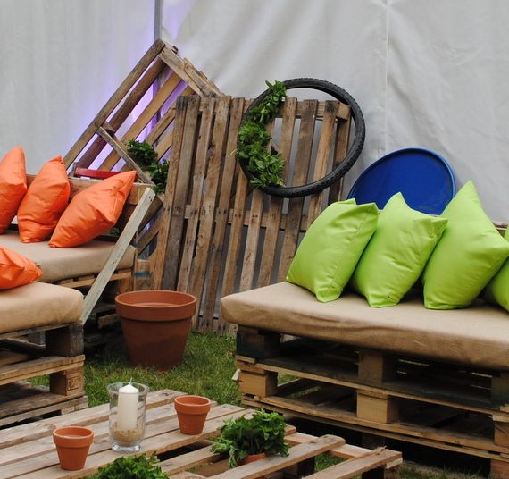 Carnival 21st birthday party planned with pallet seating