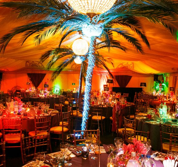 Carnival 21st birthday party planned with giant palm trees