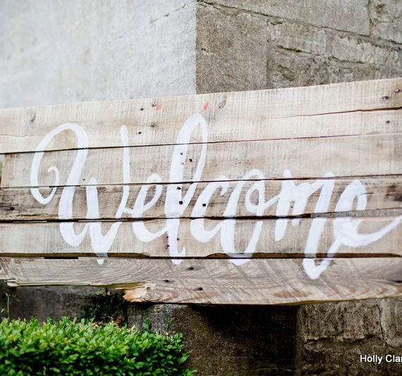 Welcome to the party sign
