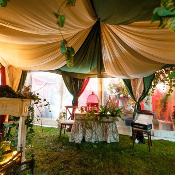 Enchanted Forest party planned - tent draping