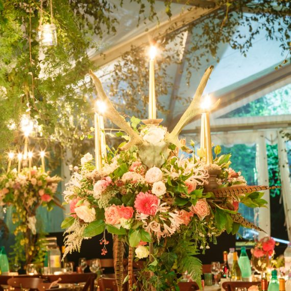 Enchanted Forest party planned - event designed with floral details