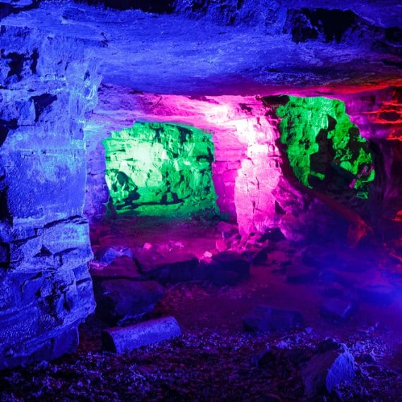 Enchanted Forest party planned - lighting the grotto