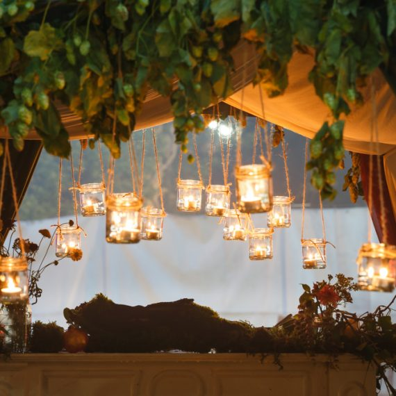 Enchanted Forest party planned - beautiful lighting