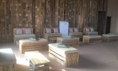 Barn Dressed for a Conference - rustic pallet furniture