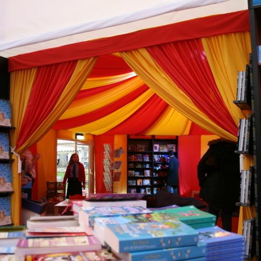 Marquee dressing for Cheltenham Festivals 3 - circus theme