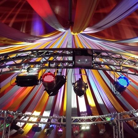 Marquee dressing for Cheltenham Festivals - little big top circus