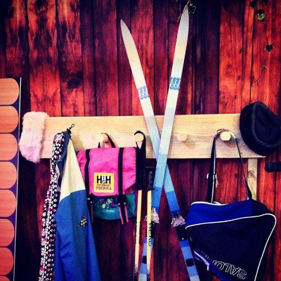 Printed fabrics for bespoke finishes - woodplank walling and skis