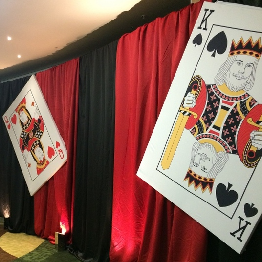 Printed fabrics for bespoke finishes - giant playing cards