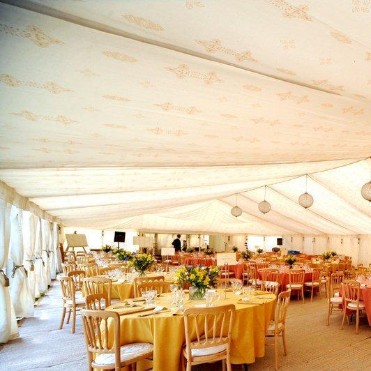 Printed fabrics for bespoke finishes - Jasmine fabric, indian marquee lining