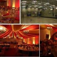 Sports Hall transformed for an event circus style