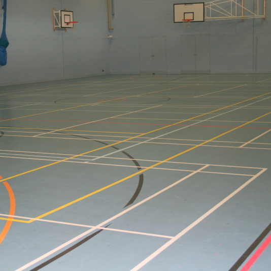 Sports Hall to indoor marquee - before