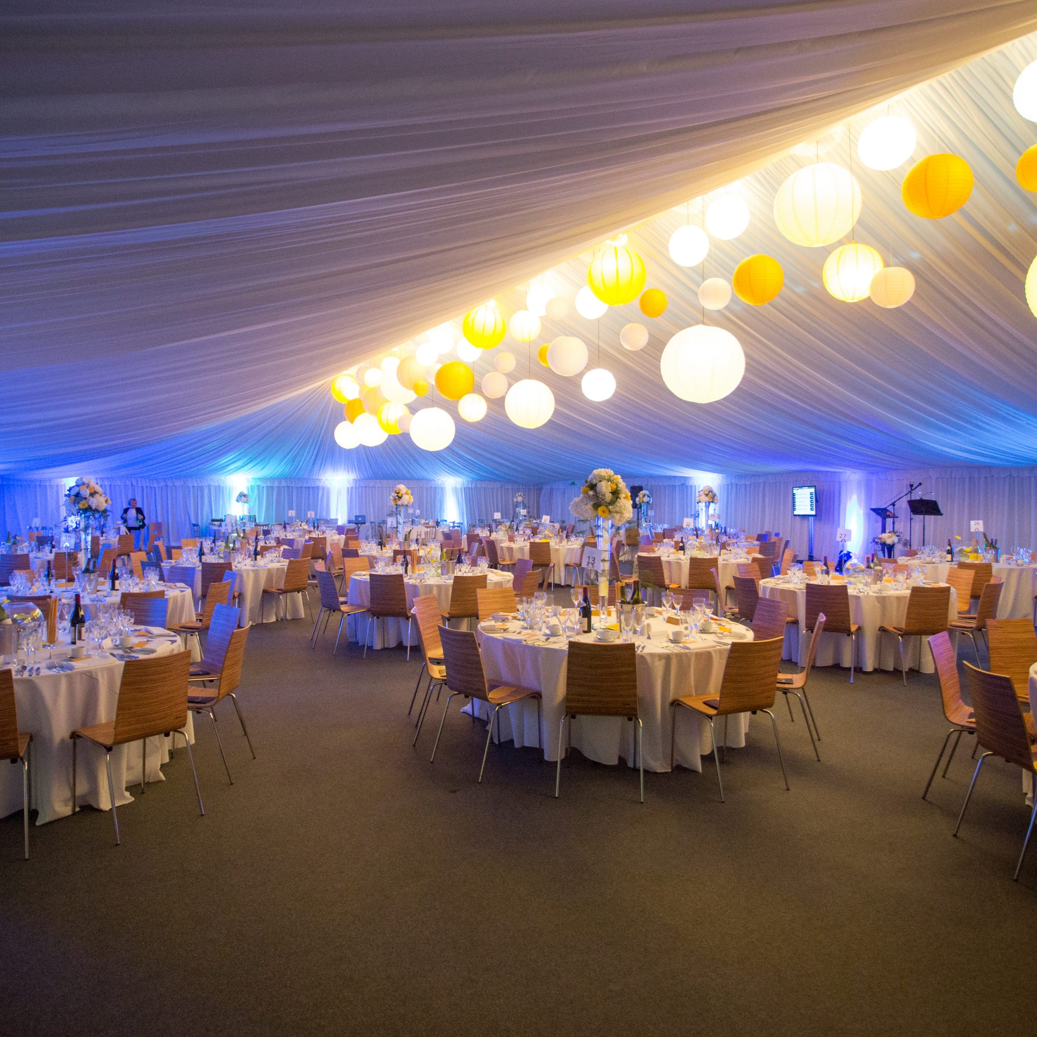 ports Hall to indoor marquee - after transformation