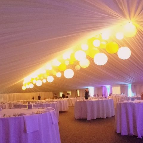 Sports Hall to indoor marquee - after transformation