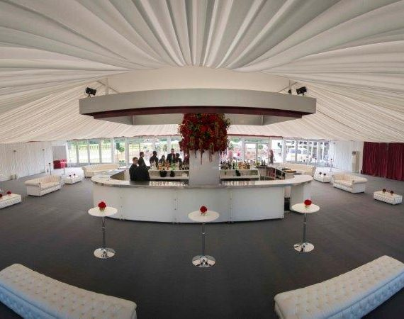 Marquee weddings with a bespoke tack off finish