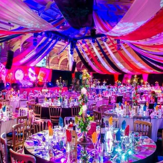 bristol passenger shed bespoke design for corporate christmas party alice in wonderland
