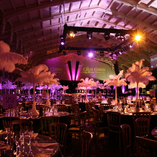 Bristol Passenger shed - Bespoke design for corporate christmas party - great gatsby theme