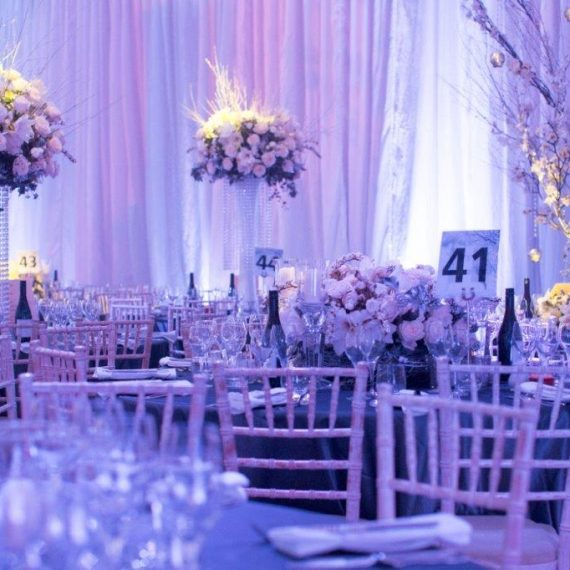 Floral Arrangements and beautiful draping