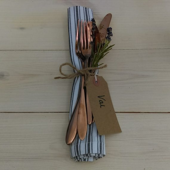Cutlery and napkins by Table to Dine For