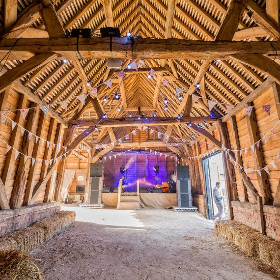 An 18th Century barn ready to host the headliners