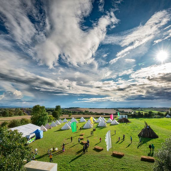 FAMILY FESTIVAL bell tent glamping and home made bonfire