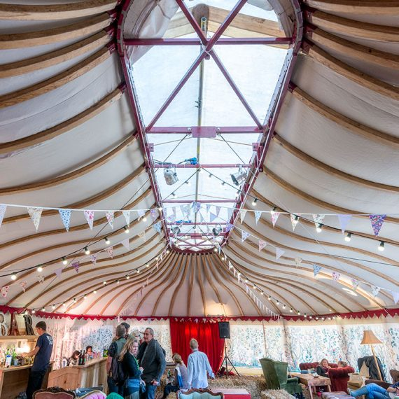 A unique and unusual marquee venue for chill out