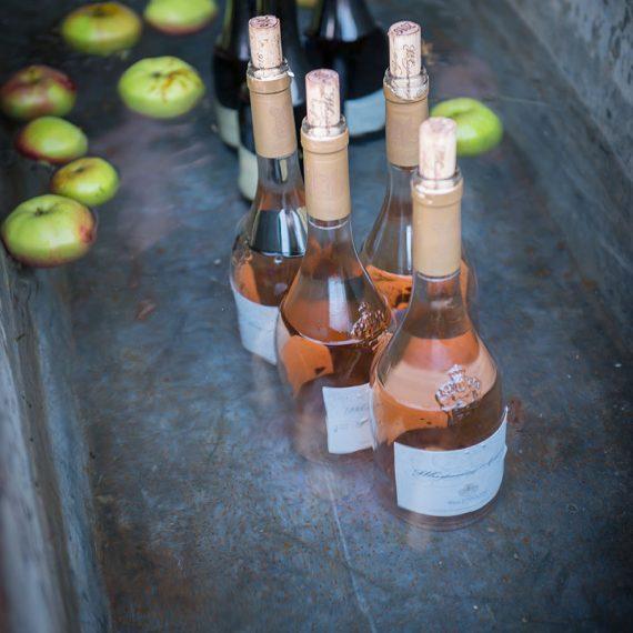 Rustic wine chiller - a galvanised tin bath