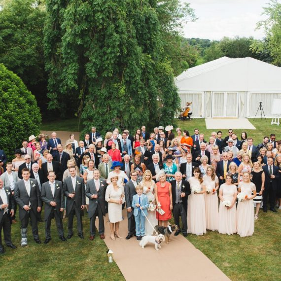 Wedding photograph of all the guests