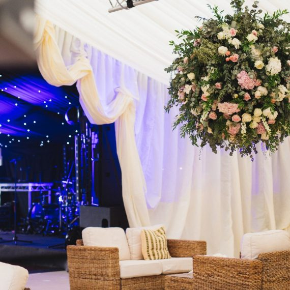 Wedding marquee reveal curtain