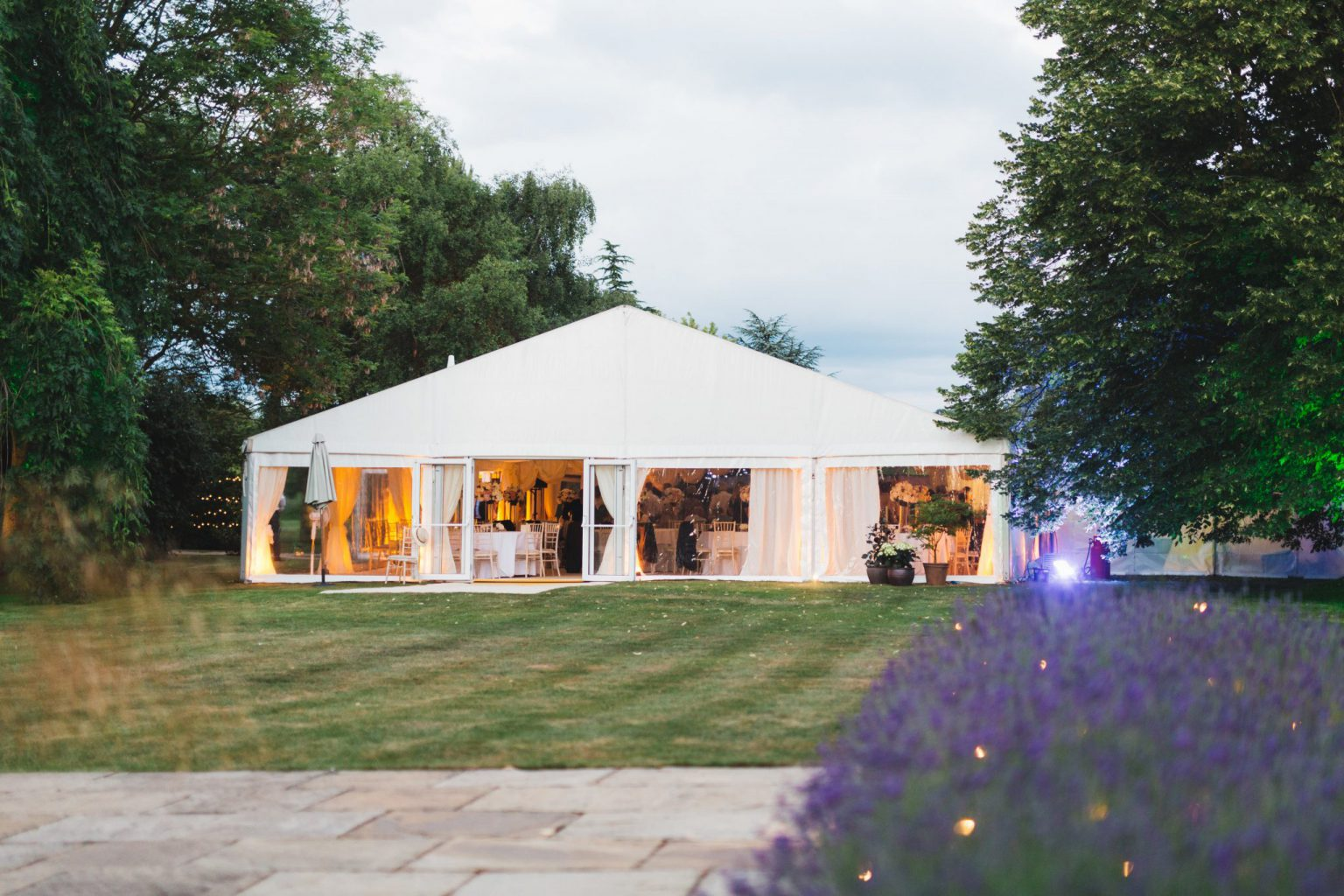Clearspan wedding marquee - guest-ready