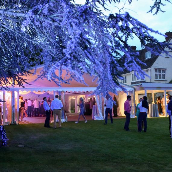 Lights up on summer party