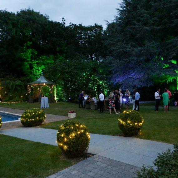 Garden lighting for summer party