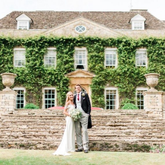 Bride and Groom at Cornwell Manor