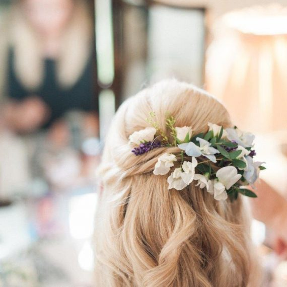Hair makeup and flowers