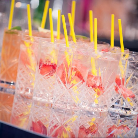 Cocktails ready to serve