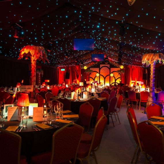 Dining Marquee ready for guests