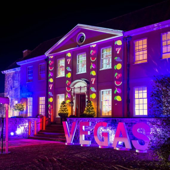 Projection Mapping on front of the house
