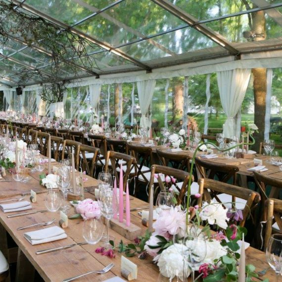 Long tables - refectory-style