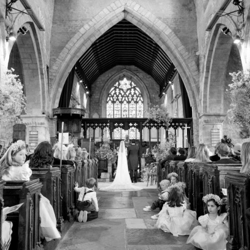 Saying vows in the wonderful St Gregory's church, Tredington