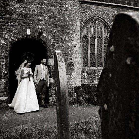 Newlyweds at St Davids Ashprington