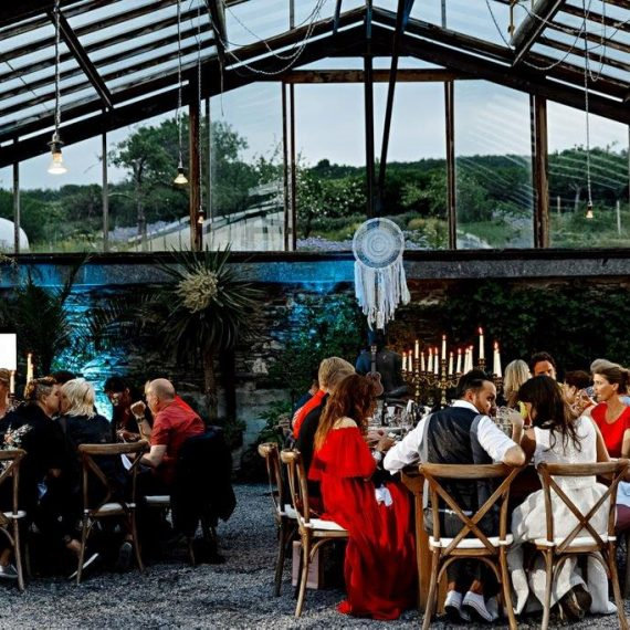 Dinner in the Glass House at Anran