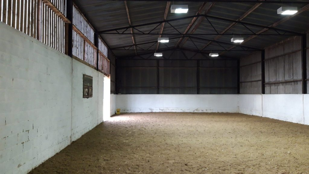 Empty riding school barn