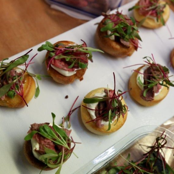 Canapes galore