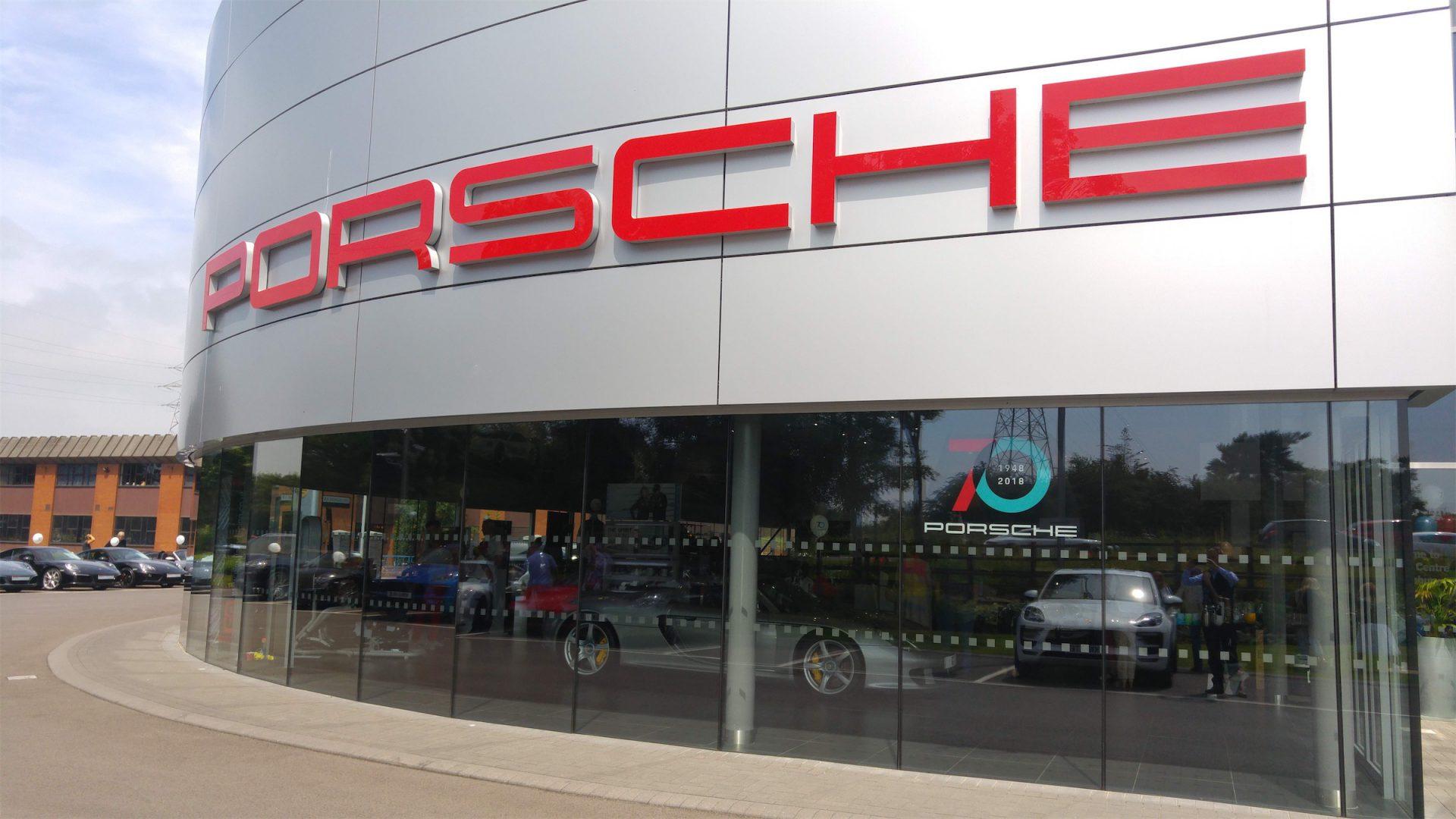 Porsche Centre Tewkesbury, Gloucestershire